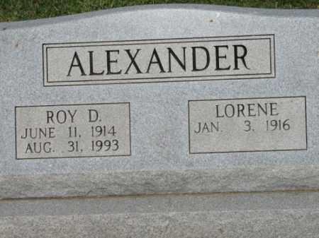 ALEXANDER, ROY D. - Clay County, Arkansas | ROY D. ALEXANDER - Arkansas Gravestone Photos