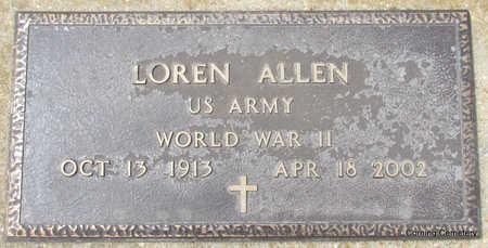 ALLEN  (VETERAN WWII), LOREN - Clay County, Arkansas | LOREN ALLEN  (VETERAN WWII) - Arkansas Gravestone Photos