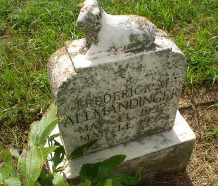 ALLMANDINGER, FREDERICK M - Clay County, Arkansas | FREDERICK M ALLMANDINGER - Arkansas Gravestone Photos