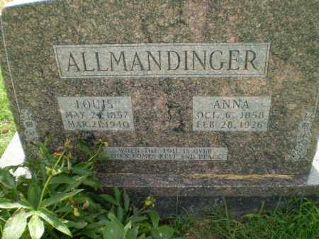 ALLMANDINGER, ANNA - Clay County, Arkansas | ANNA ALLMANDINGER - Arkansas Gravestone Photos
