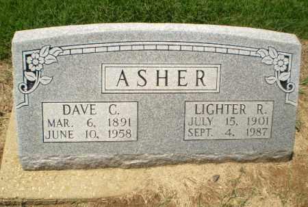ASHER, DAVE C - Clay County, Arkansas | DAVE C ASHER - Arkansas Gravestone Photos