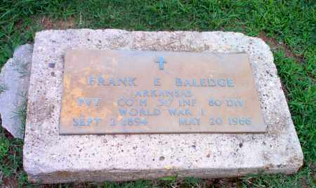 BALEDGE  (VETERAN WWI), FRANK E - Clay County, Arkansas   FRANK E BALEDGE  (VETERAN WWI) - Arkansas Gravestone Photos