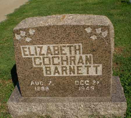 COCHRAN BARNETT, ELIZABETH - Clay County, Arkansas | ELIZABETH COCHRAN BARNETT - Arkansas Gravestone Photos