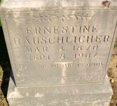 BAUSCHLICHER, ERNESTINE - Clay County, Arkansas | ERNESTINE BAUSCHLICHER - Arkansas Gravestone Photos