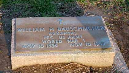 BAUSCHLICHER (VETERAN WWI), WILLIAM H - Clay County, Arkansas | WILLIAM H BAUSCHLICHER (VETERAN WWI) - Arkansas Gravestone Photos