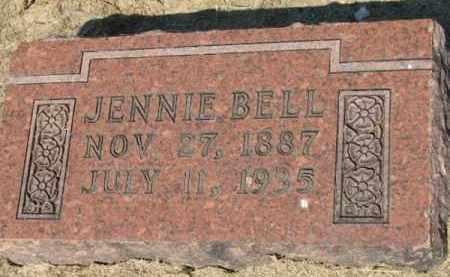 BELL, JENNIE - Clay County, Arkansas | JENNIE BELL - Arkansas Gravestone Photos