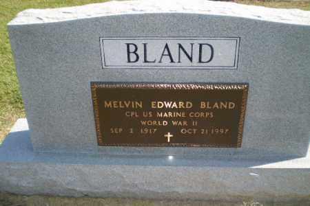 BLAND  (VETERAN WWII), MELVIN EDWARD - Clay County, Arkansas | MELVIN EDWARD BLAND  (VETERAN WWII) - Arkansas Gravestone Photos