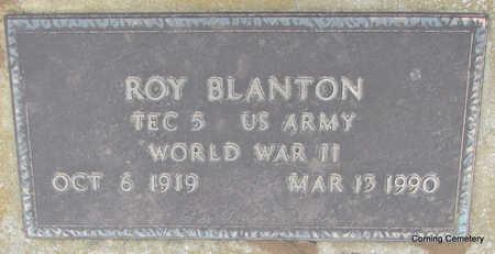 BLANTON  (VETERAN WWII), ROY - Clay County, Arkansas | ROY BLANTON  (VETERAN WWII) - Arkansas Gravestone Photos