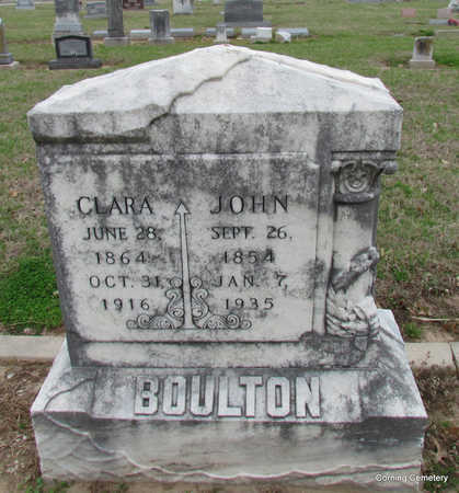 "BOULTON, NANCY CLARINDA ""CLARA"" - Clay County, Arkansas 