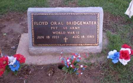 BRIDGEWATER (VETERAN WWII), FLOYD ORAL - Clay County, Arkansas | FLOYD ORAL BRIDGEWATER (VETERAN WWII) - Arkansas Gravestone Photos