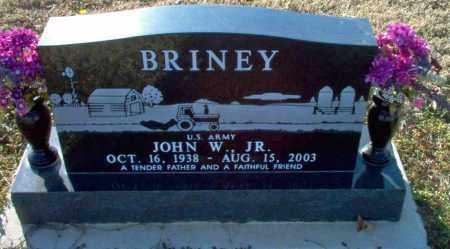 BRINEY, JR.  (VETERAN), JOHN W. - Clay County, Arkansas | JOHN W. BRINEY, JR.  (VETERAN) - Arkansas Gravestone Photos