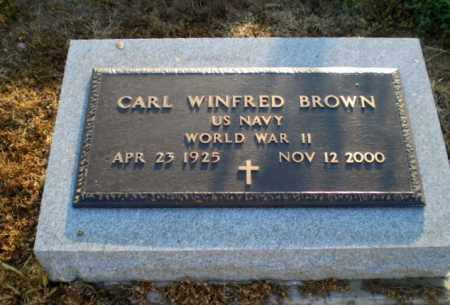 BROWN  (VETERAN WWII), CARL WINFRED - Clay County, Arkansas   CARL WINFRED BROWN  (VETERAN WWII) - Arkansas Gravestone Photos