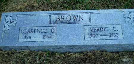 BROWN, VERDIE E - Clay County, Arkansas   VERDIE E BROWN - Arkansas Gravestone Photos