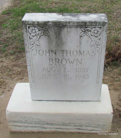BROWN, JOHN THOMAS - Clay County, Arkansas | JOHN THOMAS BROWN - Arkansas Gravestone Photos