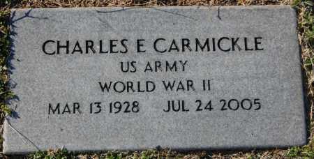 CARMICKLE (VETERAN WWII), CHARLES E - Clay County, Arkansas   CHARLES E CARMICKLE (VETERAN WWII) - Arkansas Gravestone Photos