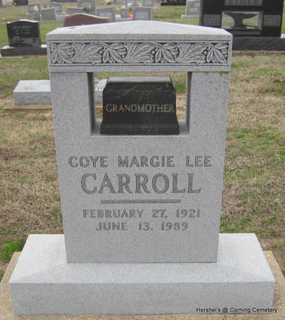CARROLL, COYE MARGIE - Clay County, Arkansas | COYE MARGIE CARROLL - Arkansas Gravestone Photos