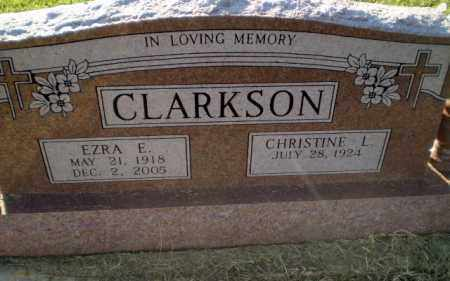 CLARKSON, EZRA E - Clay County, Arkansas | EZRA E CLARKSON - Arkansas Gravestone Photos