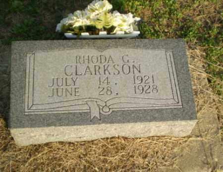 CLARKSON, RHODA G - Clay County, Arkansas | RHODA G CLARKSON - Arkansas Gravestone Photos