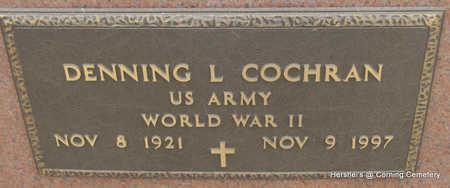 COCHRAN  (VETERAN WWII), DENNING LEE - Clay County, Arkansas | DENNING LEE COCHRAN  (VETERAN WWII) - Arkansas Gravestone Photos