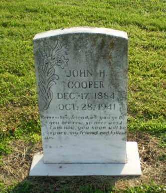 COOPER, JOHN H - Clay County, Arkansas   JOHN H COOPER - Arkansas Gravestone Photos