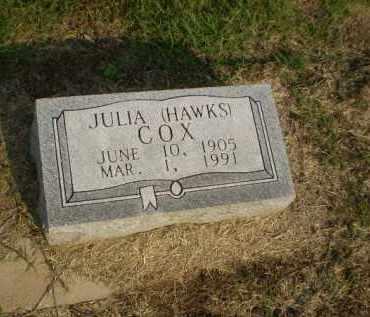 HAWKS COX, JULIA - Clay County, Arkansas | JULIA HAWKS COX - Arkansas Gravestone Photos