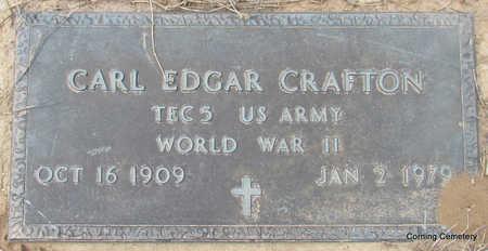CRAFTON  (VETERAN WWII), CARL EDGAR - Clay County, Arkansas   CARL EDGAR CRAFTON  (VETERAN WWII) - Arkansas Gravestone Photos