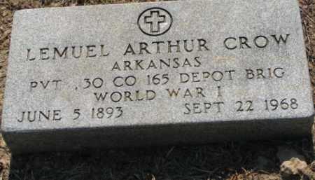 CROW (VETERAN WWI), LEMUEL ARTHUR - Clay County, Arkansas | LEMUEL ARTHUR CROW (VETERAN WWI) - Arkansas Gravestone Photos