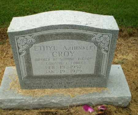 HINKLE CROY, ETHYL A - Clay County, Arkansas | ETHYL A HINKLE CROY - Arkansas Gravestone Photos
