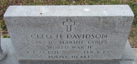 DAVIDSON (VETERAN WWII), CLEO H - Clay County, Arkansas | CLEO H DAVIDSON (VETERAN WWII) - Arkansas Gravestone Photos