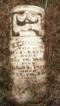 DAVIS, EMILY P - Clay County, Arkansas | EMILY P DAVIS - Arkansas Gravestone Photos