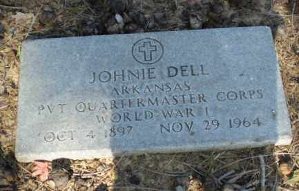 DELL VETERAN WWI), JOHNIE - Clay County, Arkansas | JOHNIE DELL VETERAN WWI) - Arkansas Gravestone Photos