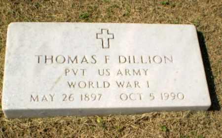 DILLION  (VETERAN WWI), THOMAS F - Clay County, Arkansas | THOMAS F DILLION  (VETERAN WWI) - Arkansas Gravestone Photos