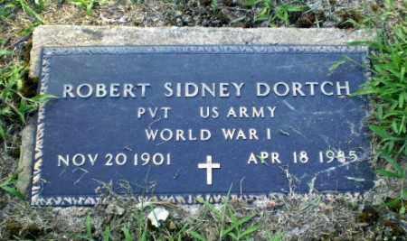 DORTCH  (VETERAN WWI), ROBERT SIDNEY - Clay County, Arkansas | ROBERT SIDNEY DORTCH  (VETERAN WWI) - Arkansas Gravestone Photos