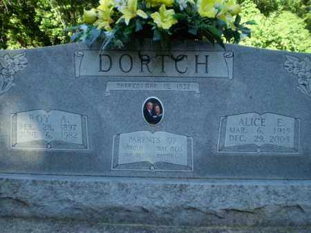 DORTCH, ALICE E - Clay County, Arkansas | ALICE E DORTCH - Arkansas Gravestone Photos