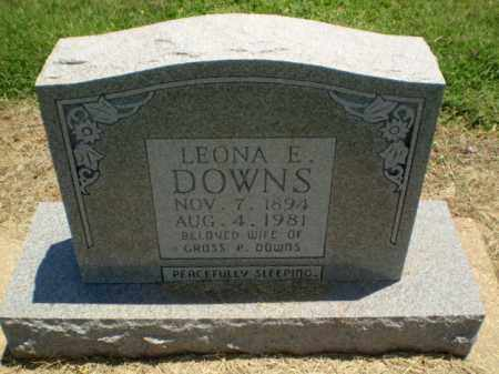 DOWNS, LEONA E - Clay County, Arkansas | LEONA E DOWNS - Arkansas Gravestone Photos