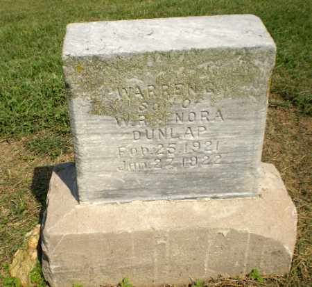 DUNLAP, WARREN G - Clay County, Arkansas | WARREN G DUNLAP - Arkansas Gravestone Photos
