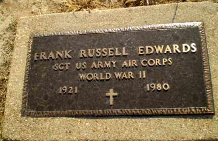 EDWARDS  (VETERAN WWII), FRANK RUSSELL - Clay County, Arkansas | FRANK RUSSELL EDWARDS  (VETERAN WWII) - Arkansas Gravestone Photos