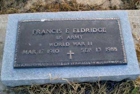 ELDRIDGE  (VETERAN WWII), FRANCIS E - Clay County, Arkansas | FRANCIS E ELDRIDGE  (VETERAN WWII) - Arkansas Gravestone Photos