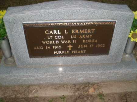 ERMERT (VETERAN 2 WARS), CARL L - Clay County, Arkansas | CARL L ERMERT (VETERAN 2 WARS) - Arkansas Gravestone Photos
