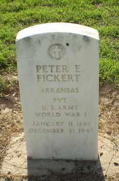 FICKERT (VETERAN WWI), PETER - Clay County, Arkansas | PETER FICKERT (VETERAN WWI) - Arkansas Gravestone Photos