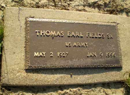 FIELDS, SR. (VETERAN), THOMAS EARL - Clay County, Arkansas | THOMAS EARL FIELDS, SR. (VETERAN) - Arkansas Gravestone Photos
