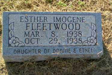 FLEETWOOD, ESTHER IMOGENE - Clay County, Arkansas | ESTHER IMOGENE FLEETWOOD - Arkansas Gravestone Photos