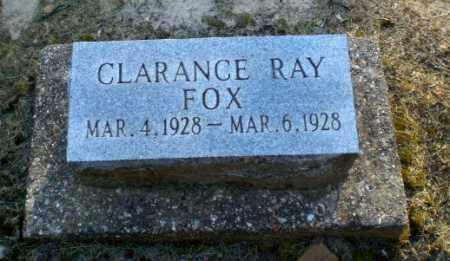 FOX, CLARANCE RAY - Clay County, Arkansas | CLARANCE RAY FOX - Arkansas Gravestone Photos
