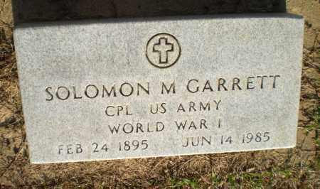 GARRETT (VETERAN WWI), SOLOMON - Clay County, Arkansas | SOLOMON GARRETT (VETERAN WWI) - Arkansas Gravestone Photos