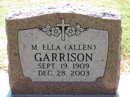 ALLEN GARRISON, M. ELLA - Clay County, Arkansas   M. ELLA ALLEN GARRISON - Arkansas Gravestone Photos