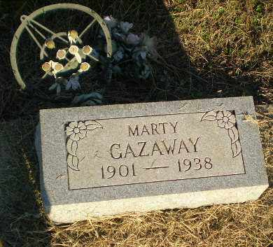 GAZAWAY, MARTY - Clay County, Arkansas | MARTY GAZAWAY - Arkansas Gravestone Photos