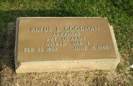 GOODMAN  (VETERAN WWI), RUFUS L - Clay County, Arkansas | RUFUS L GOODMAN  (VETERAN WWI) - Arkansas Gravestone Photos