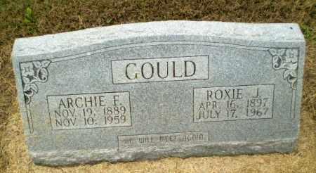 GOULD, ARCHIE F - Clay County, Arkansas | ARCHIE F GOULD - Arkansas Gravestone Photos