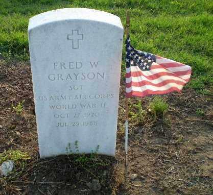 GRAYSON  (VETERAN WWII), FRED W - Clay County, Arkansas | FRED W GRAYSON  (VETERAN WWII) - Arkansas Gravestone Photos