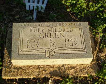 GREEN, RUBY MILDRED - Clay County, Arkansas | RUBY MILDRED GREEN - Arkansas Gravestone Photos